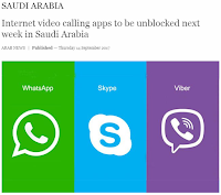 "It was about four years ago when the Saudi government started blocking messaging, voice and video calling apps from the country. Viber, Skype, Whats App and Facebook Messenger are just some of the popular mobile and PC applications partially or fully blocked by the Communications and Information Technology Commission.  The Saudi government wanted these apps to have a local server in the Kingdom, where the government can monitor all communications passing through these apps.  But a surprising news came from Saudi Arabia recently. Internet voice and video calling apps such as Skype, Viber and WhatsApp will be allowed to work fully in Saudi Arabia starting from Wednesday next week!  The Communications and Information Technology Commission and telecommunications service providers are currently in discussions to enable everyone to benefit from applications that provide voice and video communications over the Internet.  The cooperating bodies had confirmed their commitment to enable all users to use applications to make voice and video calls of the highest quality provided all applications are reviewed periodically.  Abdullah bin Amer Al-Sawahah, the minister of Communications and Information Technology, thanked the parties involved in the talks for developing their technologies in line with the latest trends in the ICT sector and providing the best services to users.  ""This fruitful cooperation between the Kingdom's telecoms partners comes under the umbrella of 'Customer First,' a policy in which everyone works in order to give all telecom subscribers in the Kingdom the best services that meet their expectations and satisfy their needs,"" he said.  The video below explains how governments block certain voice and video calling applications that allows billions of people across the globe. People usually have to resort to using VPNs to bypass the government blocking systems.  The Kingdom is considered as one of the world's fastest growing countries in terms of growth in the use of smart phones and participation in social networking platforms.  Millions of migrant workers rely on these apps to communicate with their family and friends back home.  The average use of the Internet by mobile networks in the Kingdom is among the highest globally, which emphasizes the importance of keeping pace with the growing trend in the provision of networks and infrastructure to the highest quality standards.  Previous steps to raise the level of transparency and clarity in the sector include the launch of the quarterly index of telecoms providers in terms of complaints filed by subscribers.  It will be followed by several initiatives in partnership with service providers to improve the sector and the customer experience, and to develop a digital society in line with the 2030 Vision.  source: Arab News"