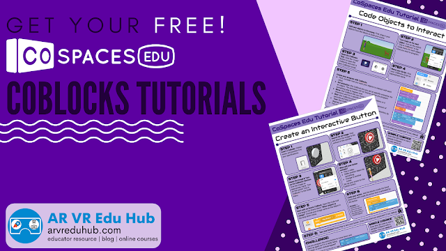 FREE #CoSpacesEdu CoBlocks Tutorials | @EdTechnocation arvreduhub.com