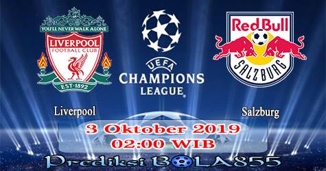Prediksi Bola855 Liverpool vs Salzburg 3 Oktober 2019