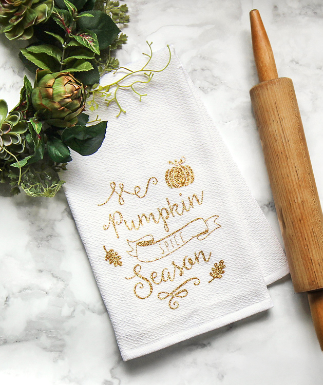 DIY Fall Tea Towel Craft