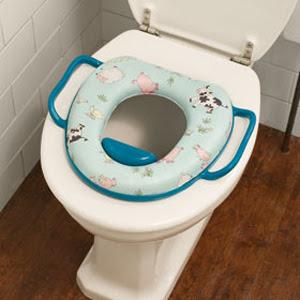 Bệ ngồi toilet cho em bé loại có đêm và tay cầm.