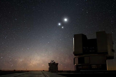 Le congiunzioni dei pianeti hanno anni di traguardo, in cui la luce supera l'oscurità