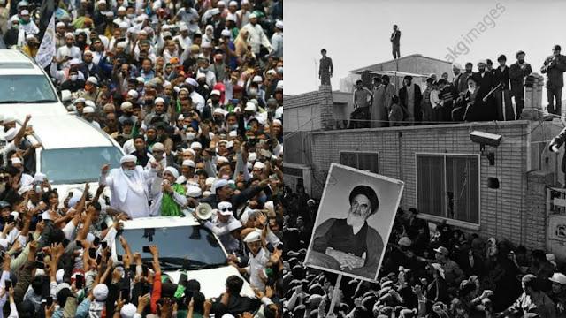 Massa Penjemput Khomeini Masih Kalah Banyak dari Penjemput Habib Rizieq