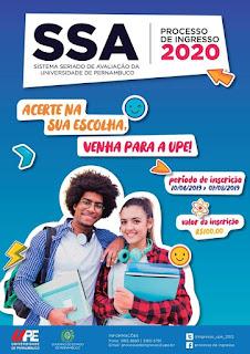 Inscrições para o Processo de Ingresso 2020 da UPE terminam na próxima semana