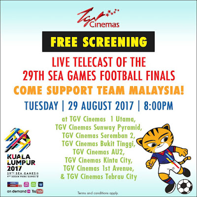 TGV Cinemas Free Screening SEA Games Football