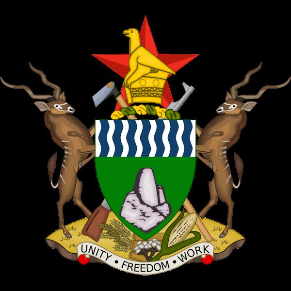 Logo Gambar Lambang Simbol Negara Zimbabwe PNG JPG ukuran 600 px