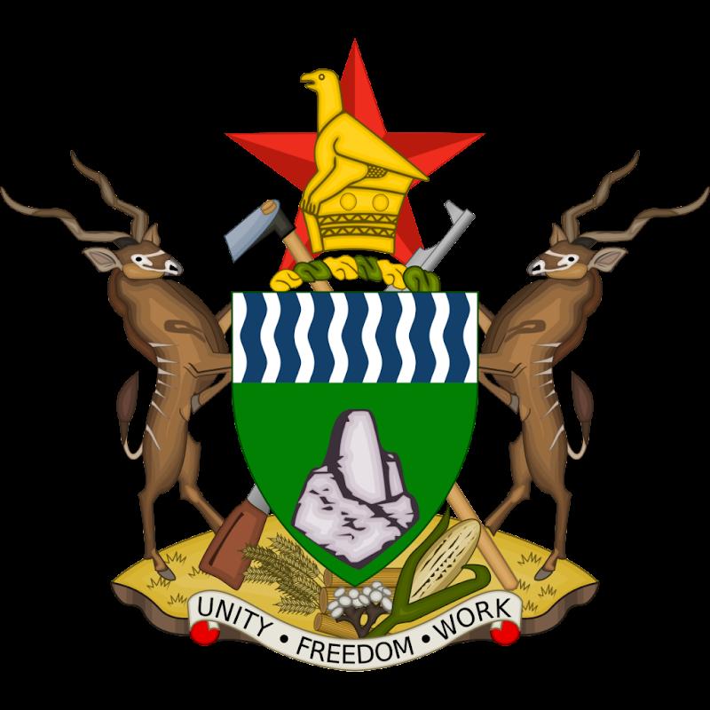 Logo Gambar Lambang Simbol Negara Zimbabwe PNG JPG ukuran 800 px
