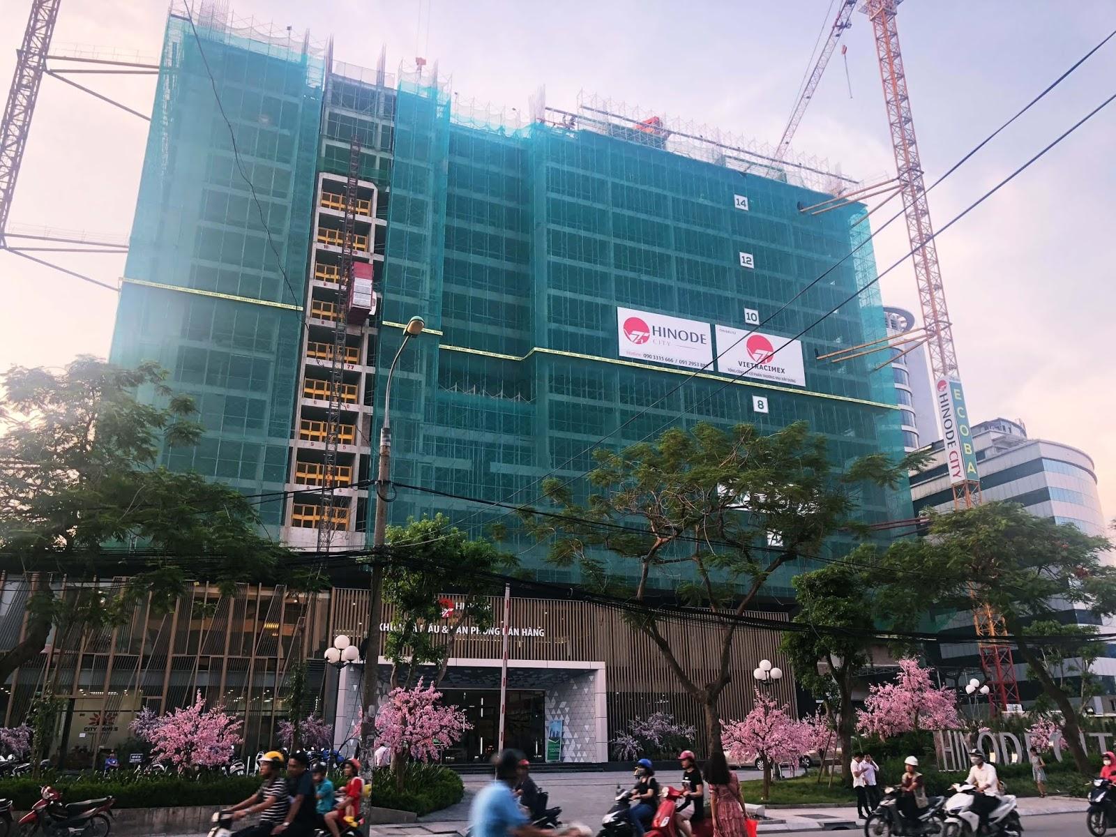 Tiến độ xây dựng mới nhất của dự án Hinode City T7/2018