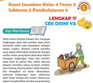 Kunci Jawaban Kelas 4 Tema 9 Subtema 3 Pembelajaran 6 www.simplenews.me