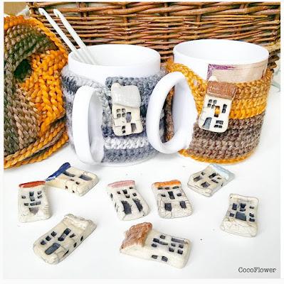 couvre tasse café au crochet par cocoflower - www.cocoflower.net