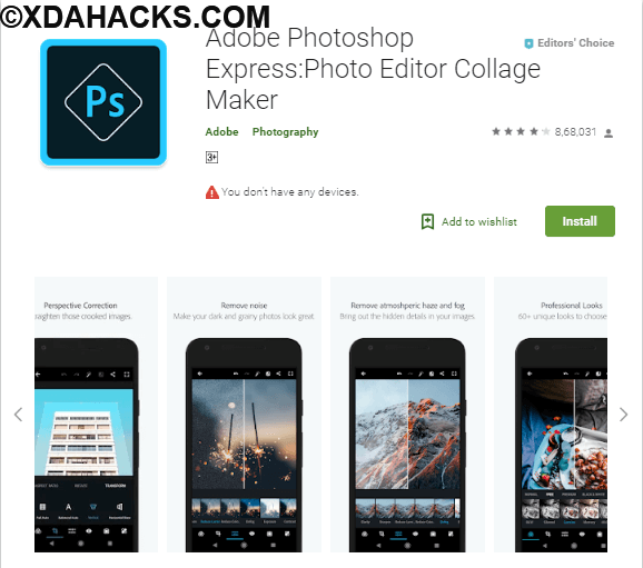 Adobe Photoshop Express Photo Editor Collage Maker v4.0.462 [Premium] ARM.apk