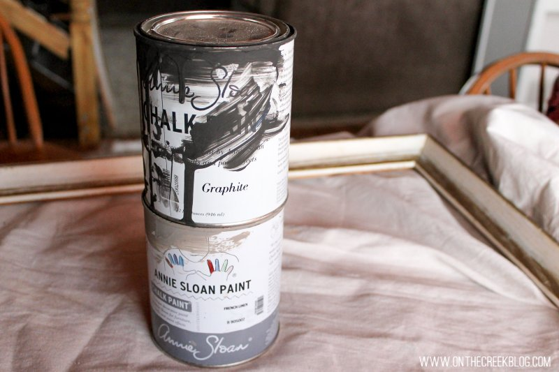Graphite & French Linen Annie Sloan Chalk Paint