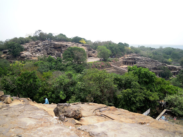 A view of the Udayagiri caves from Khandagiri, Bhubaneshwar