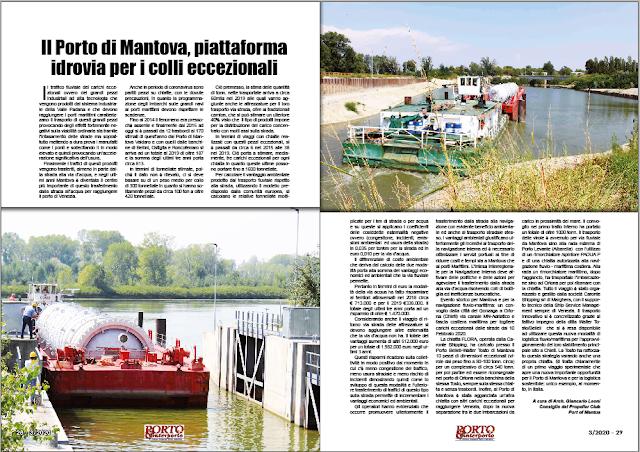 MARZO 2020 PAG. 28 - Il Porto di Mantova, piattaforma idrovia per i colli eccezionali