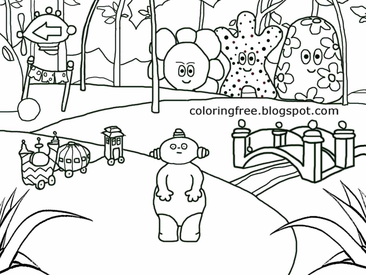 garden coloring pages characters - photo#3