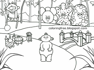Bridge sketch simple fun drawing ideas for beginners coloring in the night garden characters Haahoos