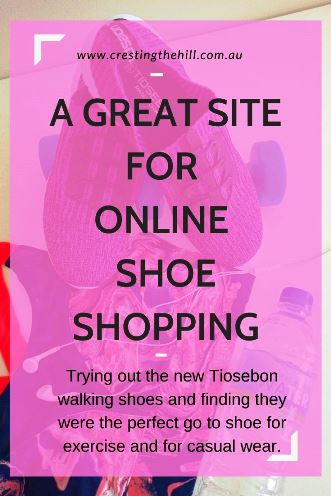 *Trying out the new Tiosebon walking shoes and finding they were the perfect go to shoe for exercise and for casual wear.