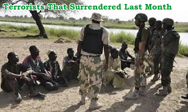 boko haram terrorists surrender army