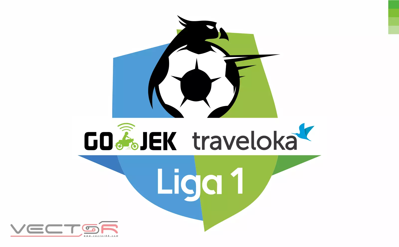 Gojek Traveloka Liga 1 Indonesia Logo - Download Vector File CDR (CorelDraw)