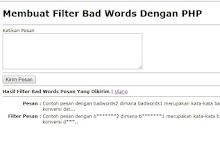 Membuat Filter Bad Words Dengan PHP