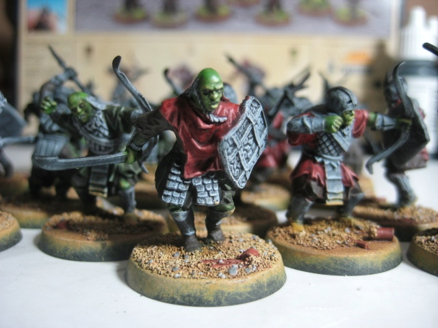 WIP: GW LOTR Mordor Orcs - clothes painting photo