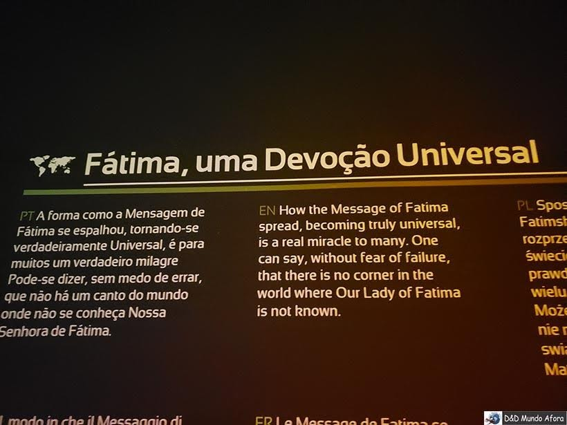 Museu Interativo Milagre de Fátima - Diário de Bordo: Fátima, Óbidos e Nazaré