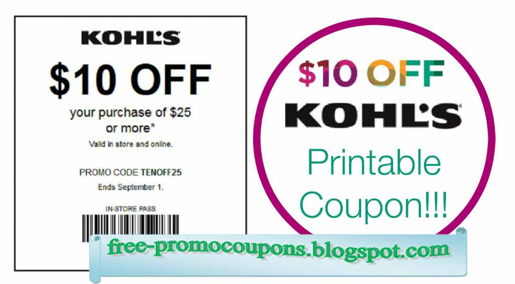 Kohls free shipping coupon code april 2018