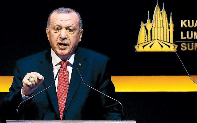 Ζητεί στήριξη για «ασφαλή ζώνη» ο Ερντογάν