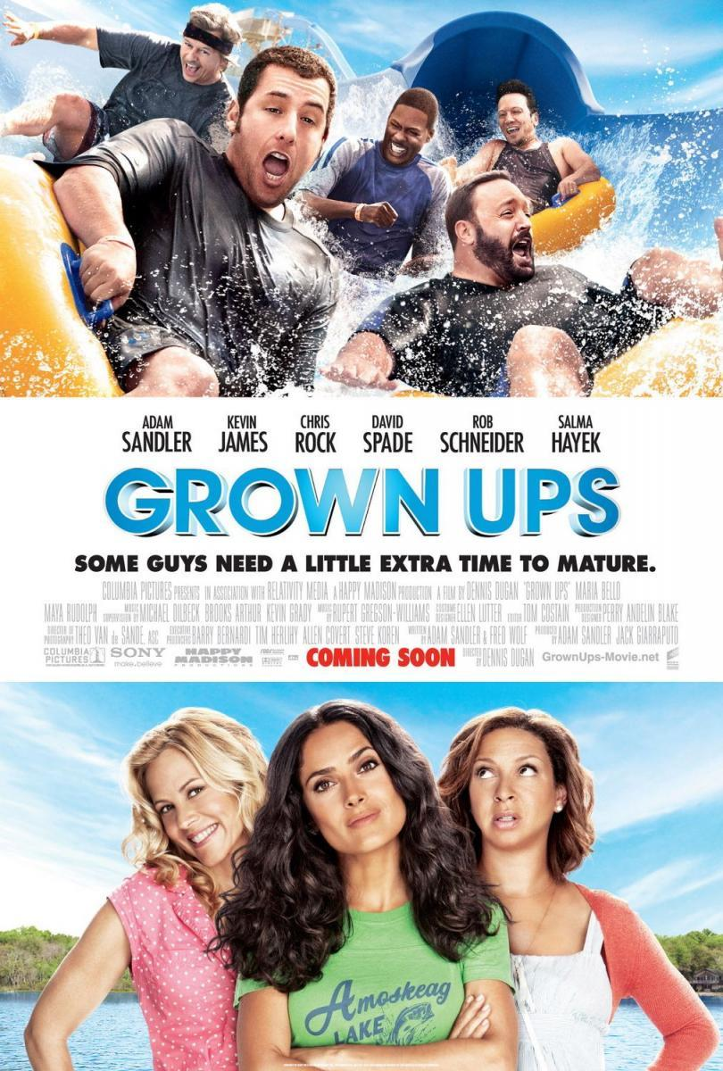Download Grown Ups (2010) Full Movie in Hindi Dual Audio BluRay 720p [1GB]