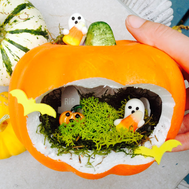 Pumpkin Fairy Garden for Halloween | Linzer Lane Blog
