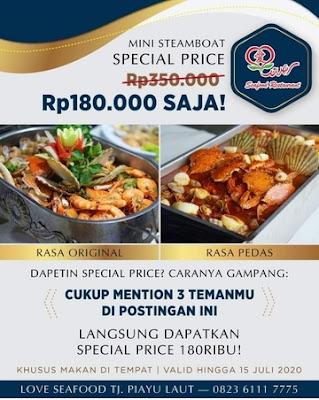 menu resto Love Seafood Batam