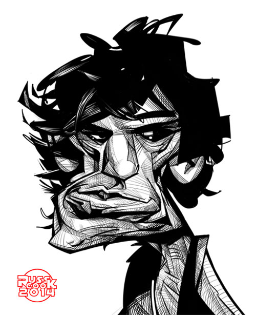 """Keith Richards"" por Russ Cook + Video tutorial"