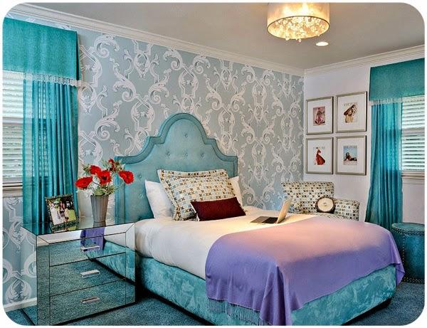 Dormitorios en color turquesa  Ideas para decorar dormitorios
