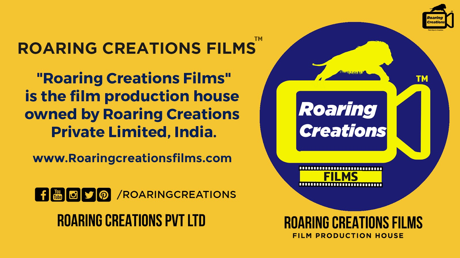 Career and Jobs @ Roaring Creations Films