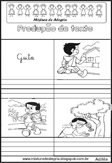 Produção de texto alfabetização