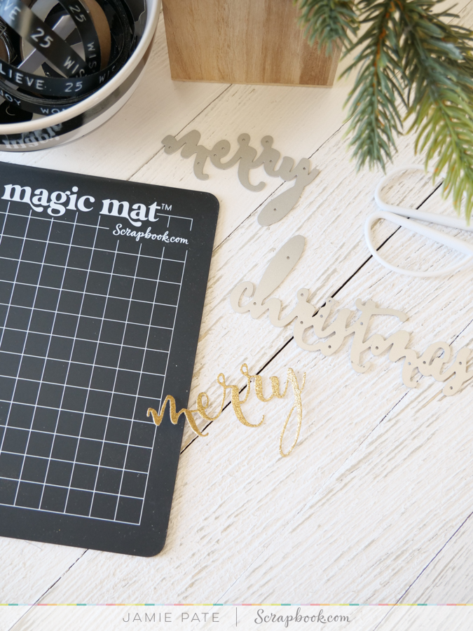 How to Make a Simple Merry Card by Jamie Pate