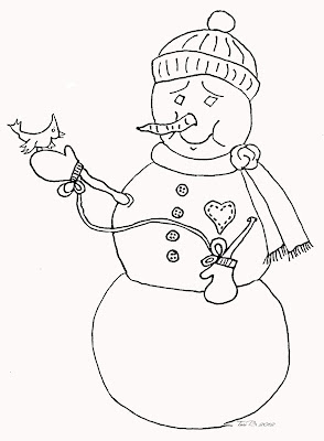 Happy Snowman, Crudoodle Digital Stamp by Tori Beveridge