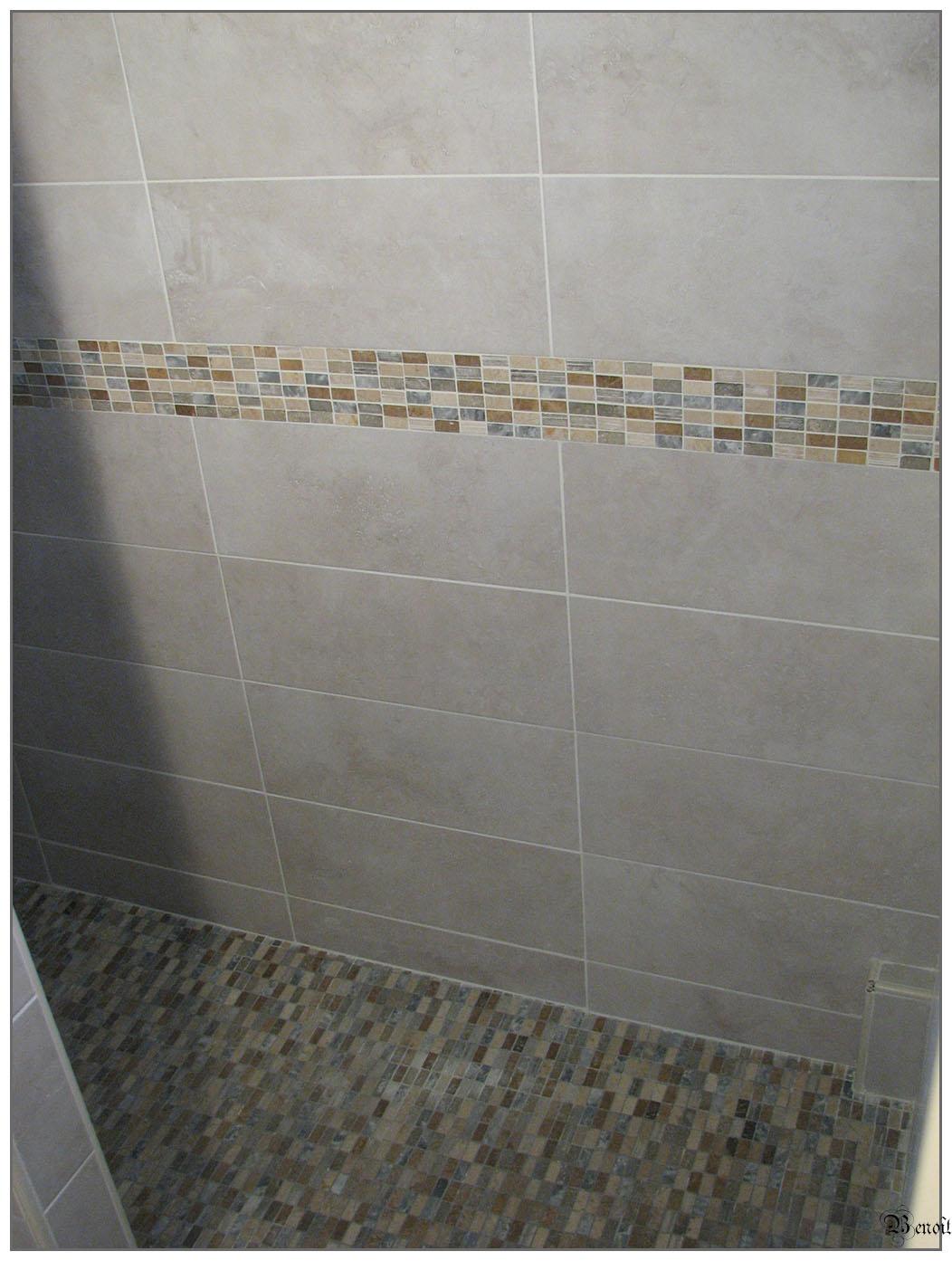 Beno t carrelage mise jour salle d 39 eau for Modele de faience pour salle de bain