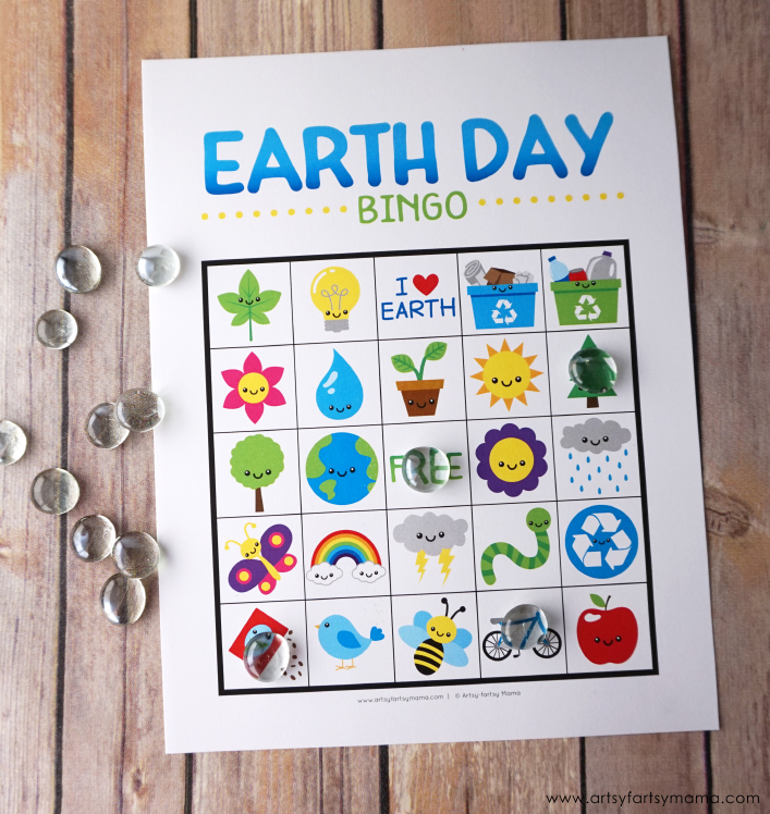 Celebrate Earth Day on April 22nd by playing Free Printable Earth Day Bingo!