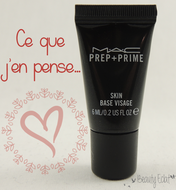 revue avis test Base de Teint Prep + Prime mac
