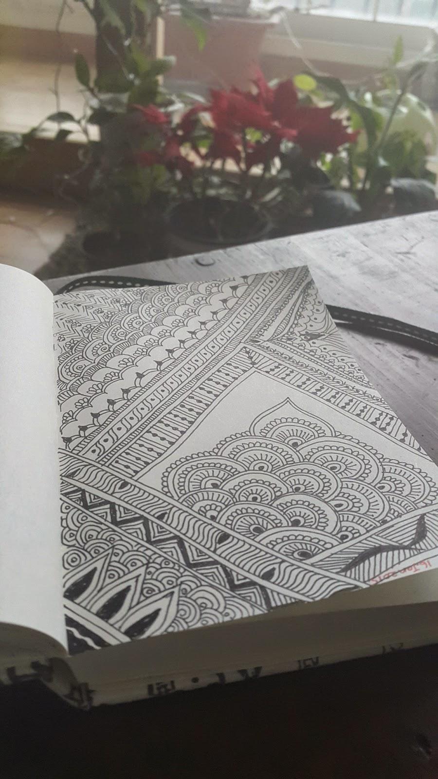 doodles in black