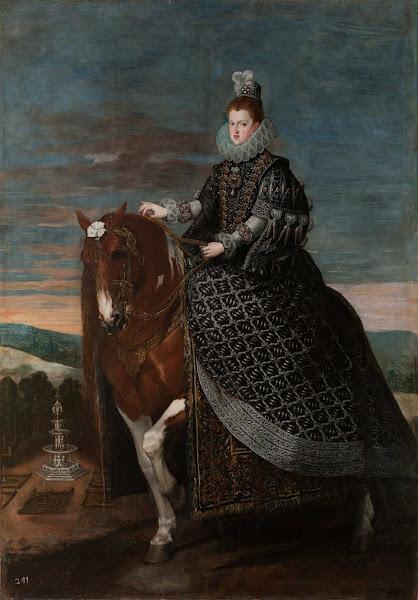 Диего Веласкес - Конный портрет королевы Маргариты Австрийской (ок.1631)
