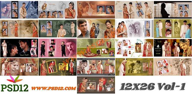 12x26 PSD Download for Wedding Album