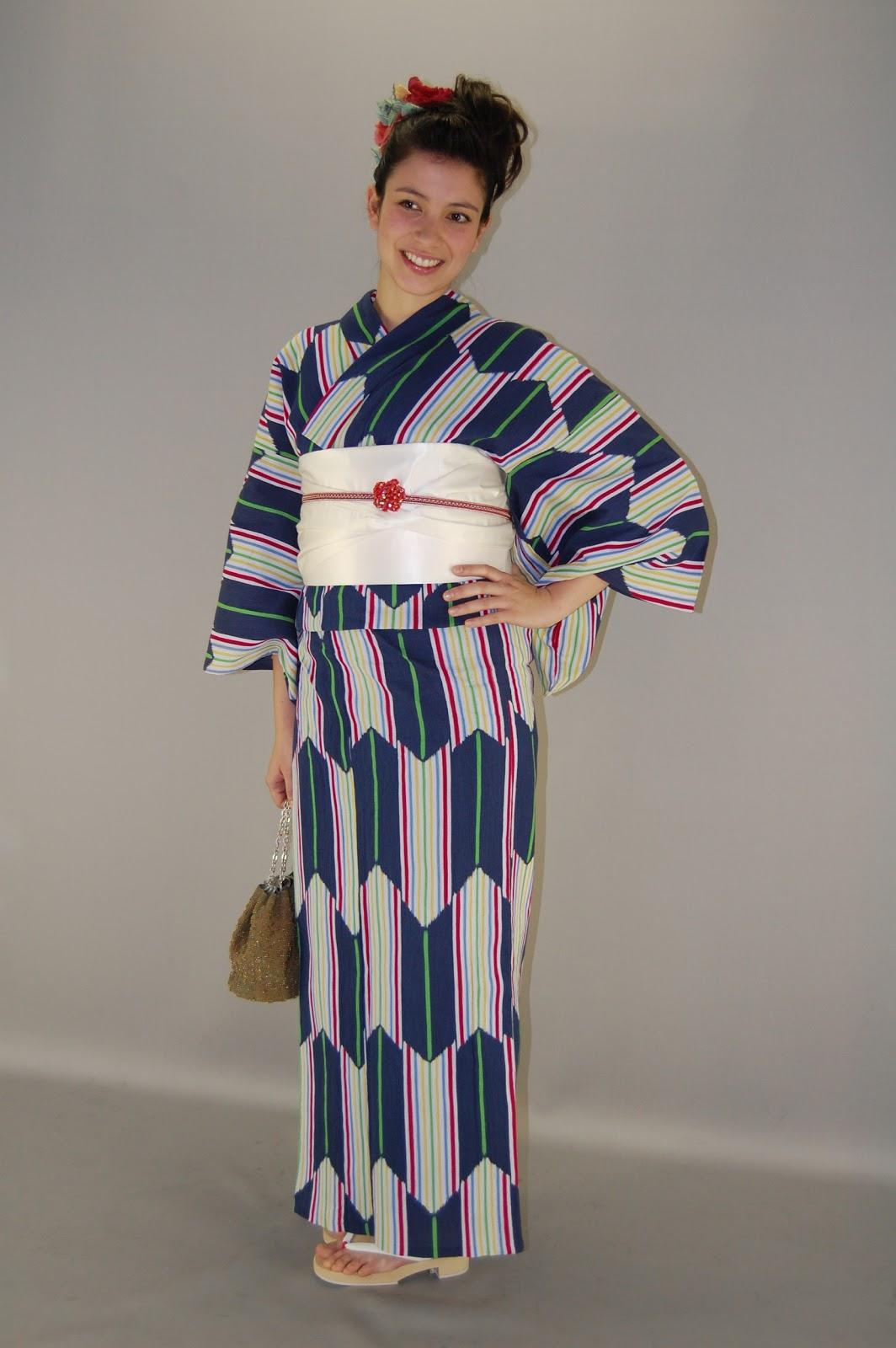 Kyoto Kimono Rental 41: Memory of yukata -summer kimono
