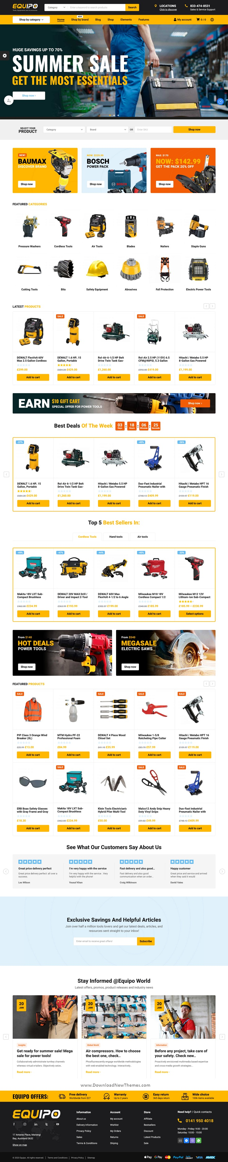 Parts And Tools WordPress WooCommerce Theme