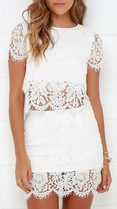 White Lace Outfits You Must See