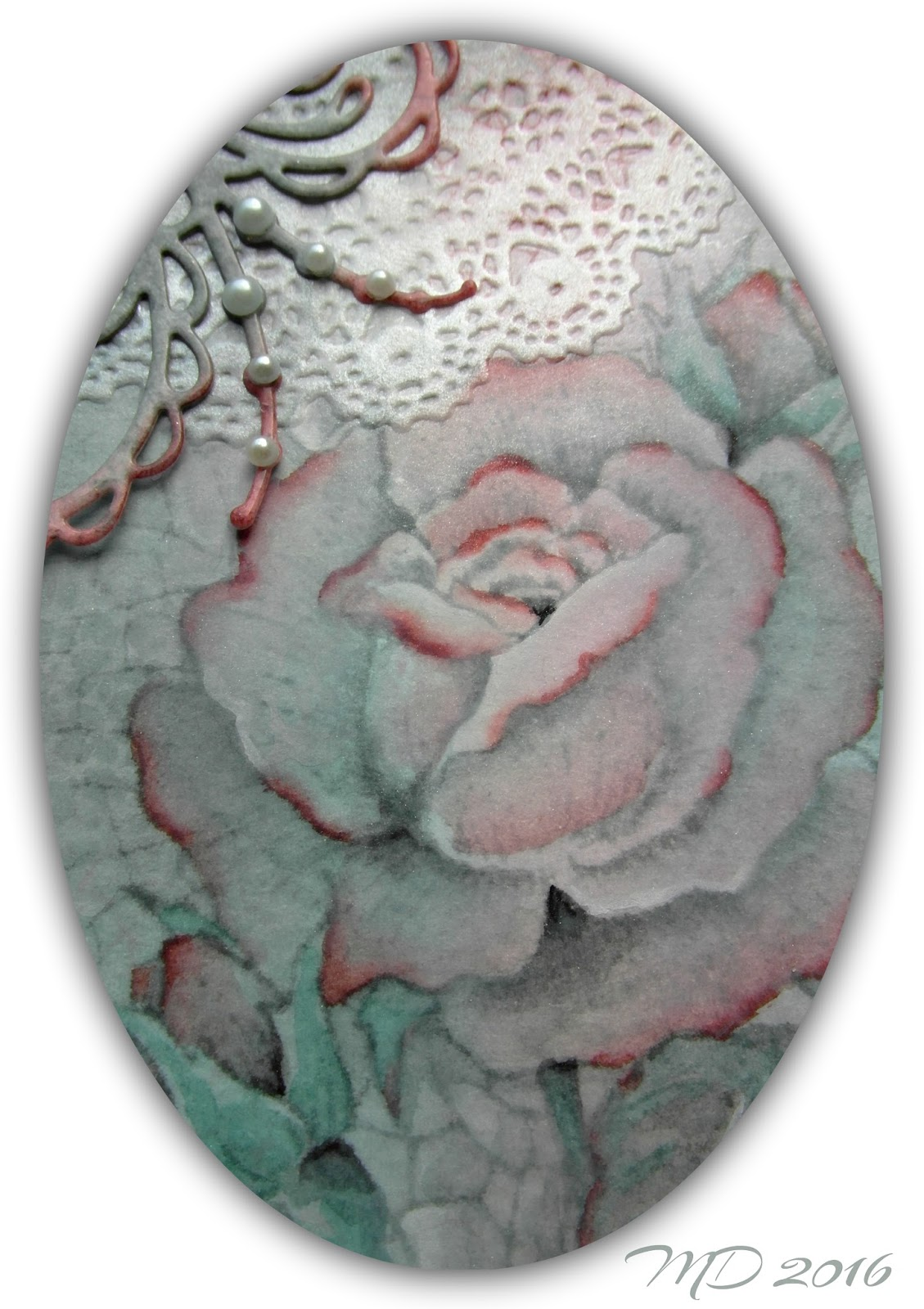 Mir acle Art Inspirations Chocolate Baroque roses on a