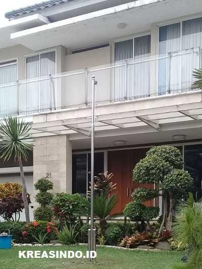 Tiang Bendera Stainless pemasangan di Padalarang Bandung Barat