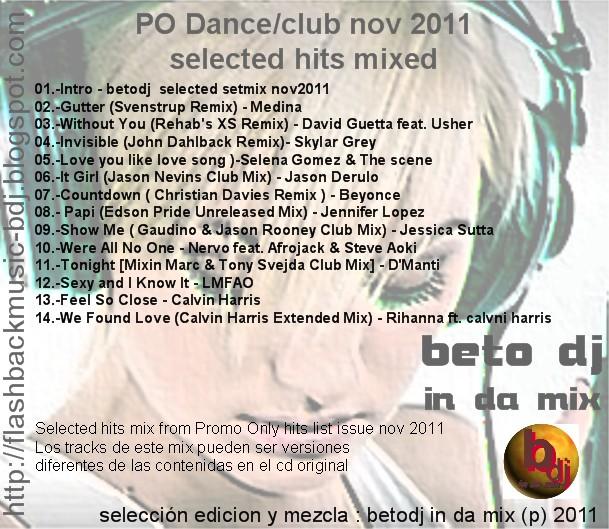 To Da Loos November 2011: FLASHBACK MUSIC: PO Dance Club November 2011mixed