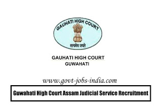 Guwahati High Court Assam Judicial Service Recruitment 2020